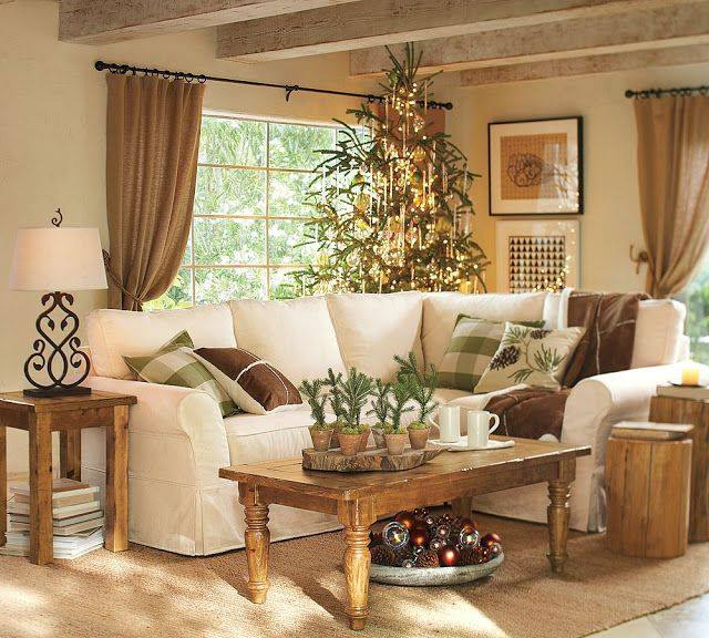 ... Fabulous Rustic Country Living Room With Neutral Colors ...