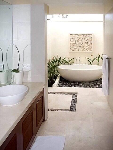 Beau ... Graceful Idea To Use Stones In The Bathroom ...