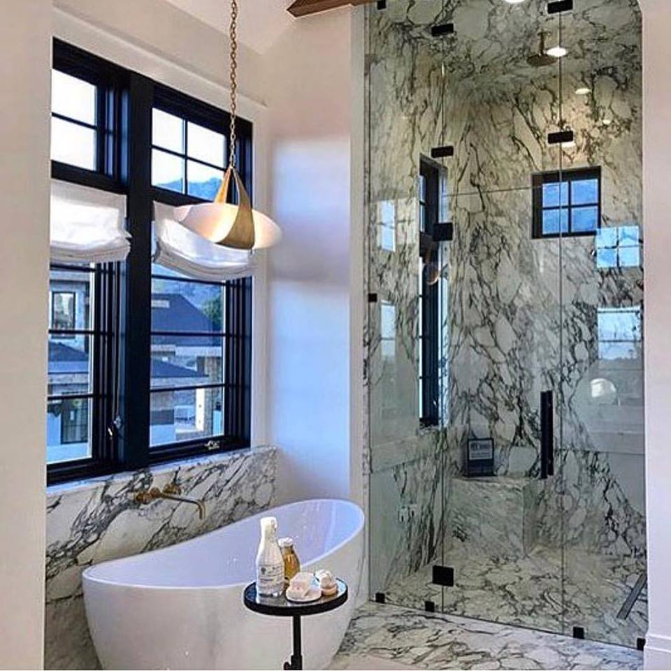 40 Warm Stone Bathroom Design Ideas That You Will Instantly Fall For