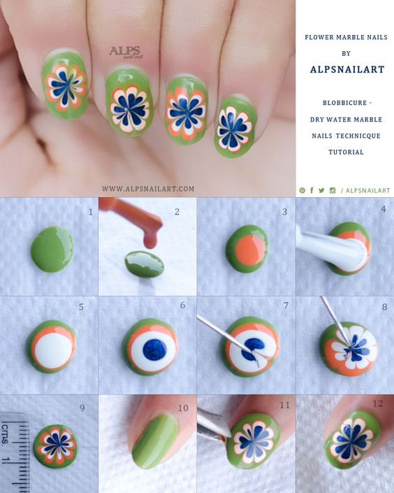 40 easy to do spring nail art tutorials that are as easy as a cakewalk ravishing spring nail art tutorial solutioingenieria Image collections