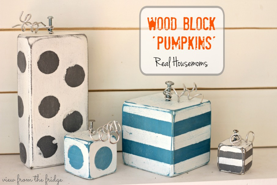 Rustic Home Decor Ideas Pumpkin Crafts Wood Block Pumpkins