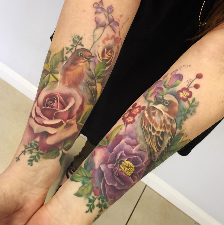 Flower Wrist Giadeolatattoo Designs: 55 Cool Bird Tattoo Ideas That Are Truly In Vogue