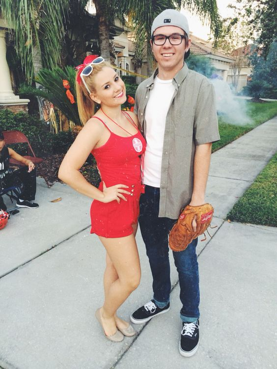 squints and wendy peffercorn from the sandlot couple costumes for halloween