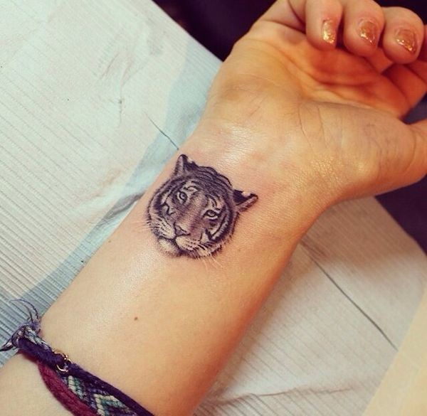 Simple Tiger Tattoos: 40 Decorative Small Animal Tattoos For The People Who Love