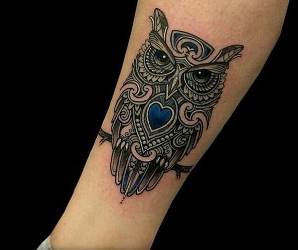 50 amazing celtic tattoo ideas that will make your for Owl heart tattoo
