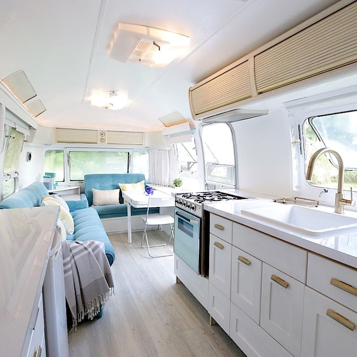 48 Stylish And Gorgeous Airstream Interior Design Ideas That Will Unique Airstream Interior Design Painting