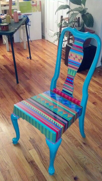 40 Vibrant DIY Painted Chair Design