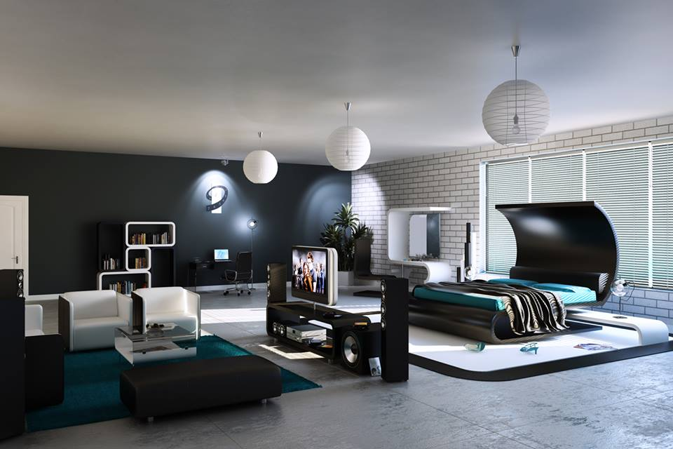Master Bedrooms On Image of Futuristic