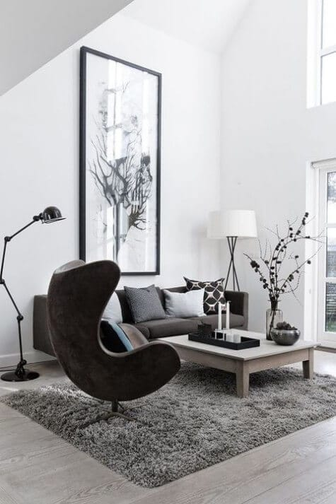 Monochrome Nordic home