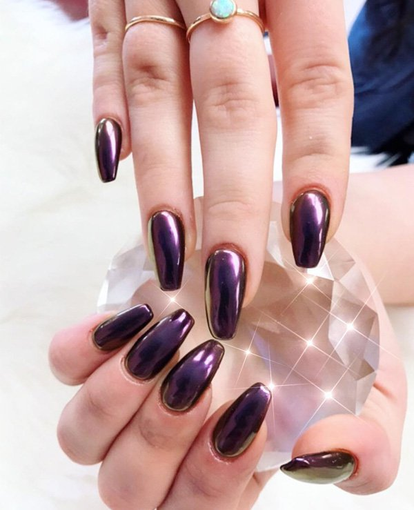 Rose Gold Chrome Royal Purple Ruled The Fashion Scene Last Fall And Winter
