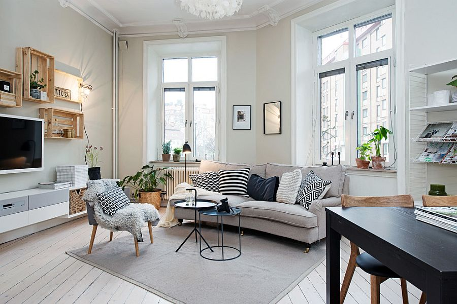 Small living room decorating idea in Scandinavian style Design - Studio Cuvier