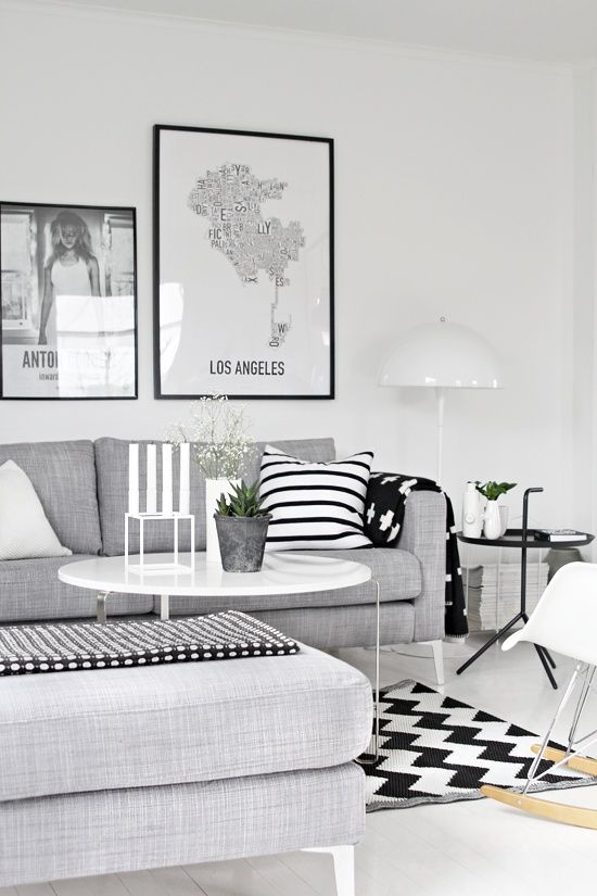 With Scandinavian style décor.