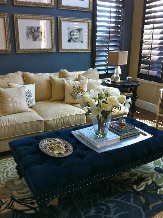 Accent Colors For Beige Walls Adorrable Blue U0026 Beige Living Room ...