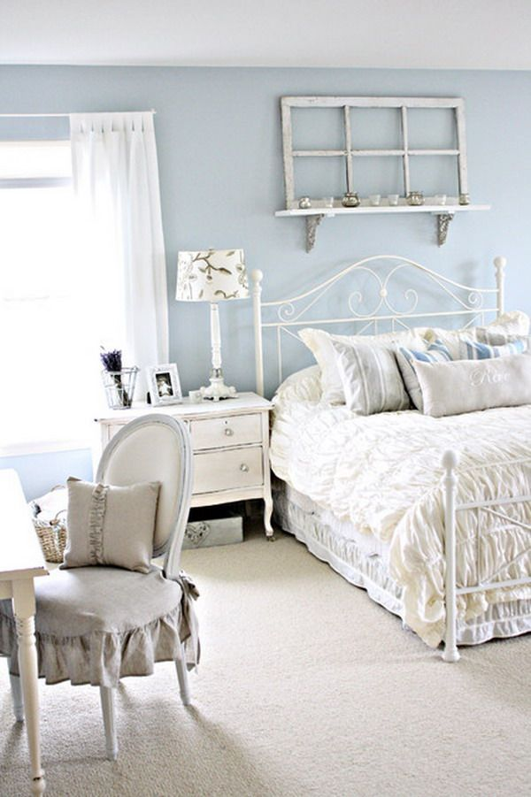 Pastel Blue Bedroom Design