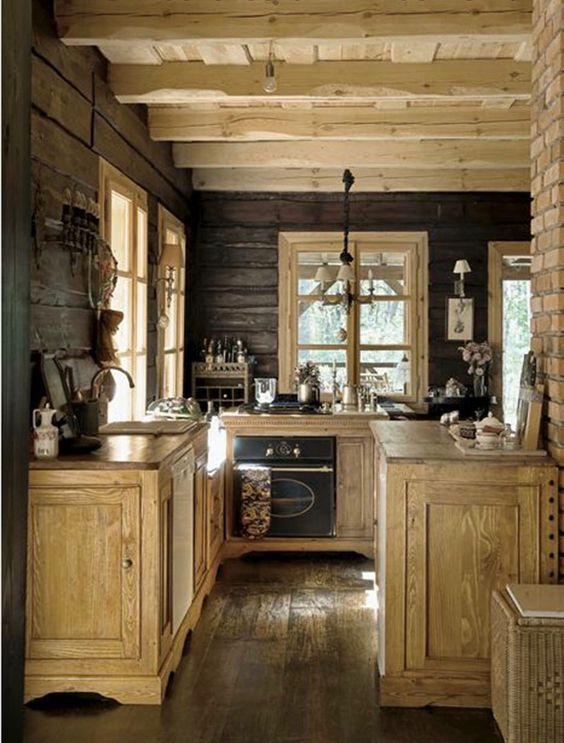 55 Stunning Woodland Inspired Kitchen Themes to Give Your ... on Rustic:fkvt0Ptafus= Farmhouse Kitchen Ideas  id=52143