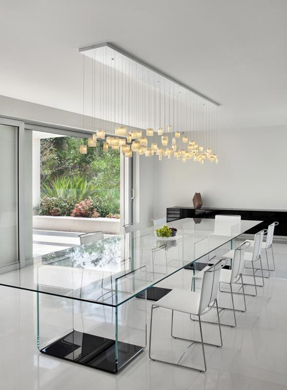 A Clear Glass Dining Table ...