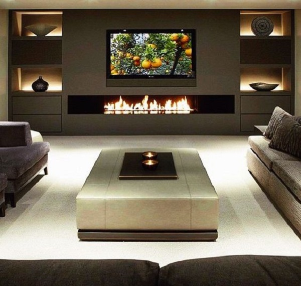 Sarah Check Hearth Cabinet: 30 Fantastic And Oh-So-Pretty TV Wall Ideas