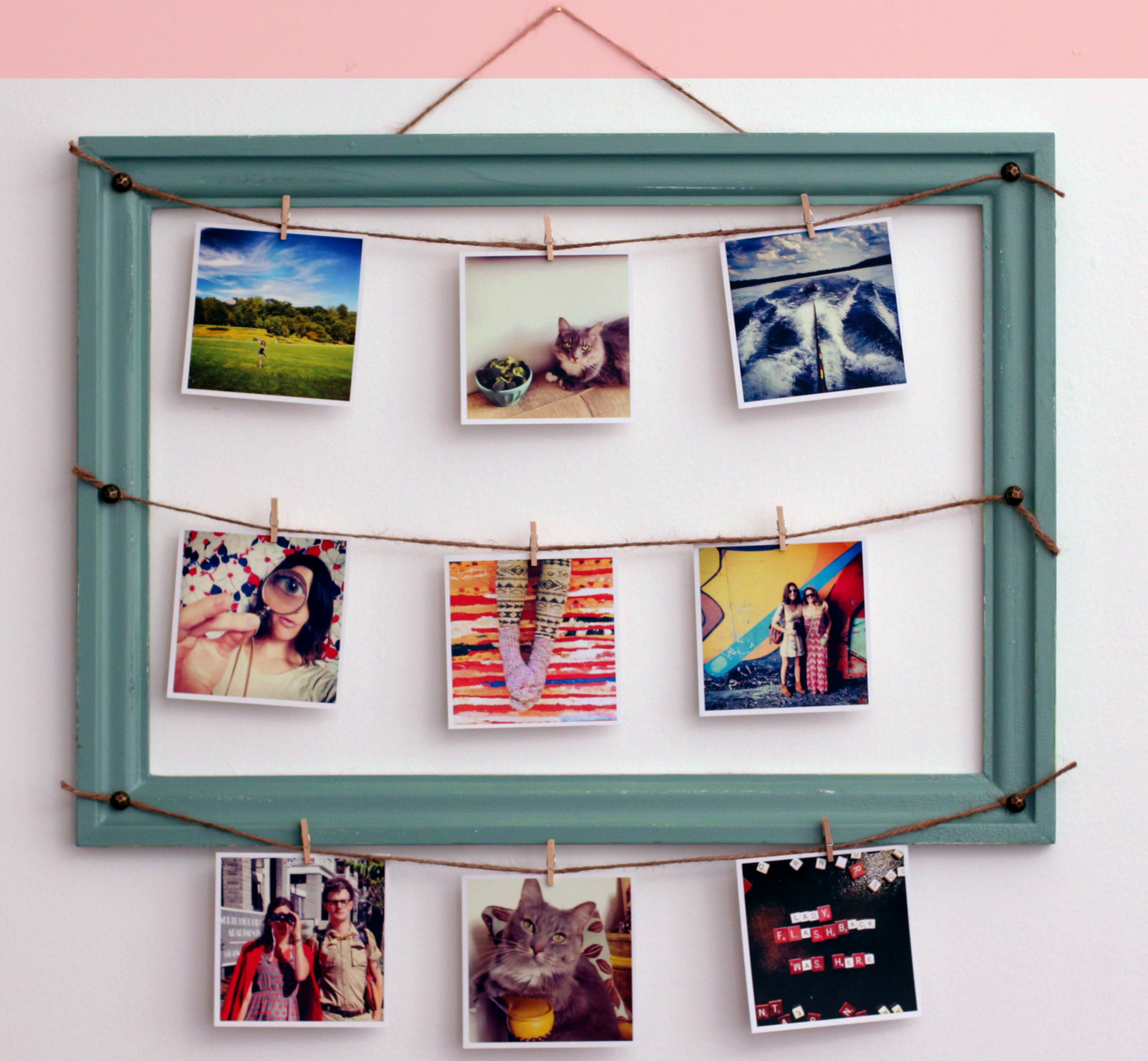 30 stunning diy picture frame ideas in order to relish some good clothesline from common creative atl jeuxipadfo Gallery