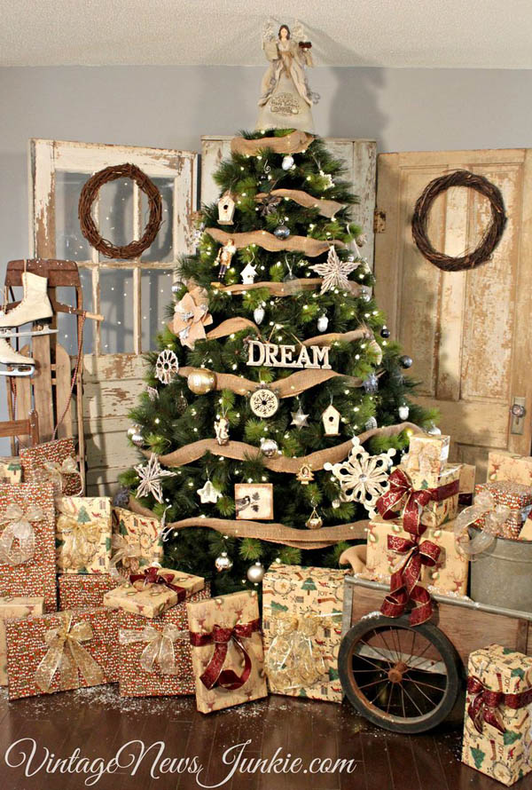 decorating ideas country themed christmas tree - Country Themed Christmas Tree Decorations
