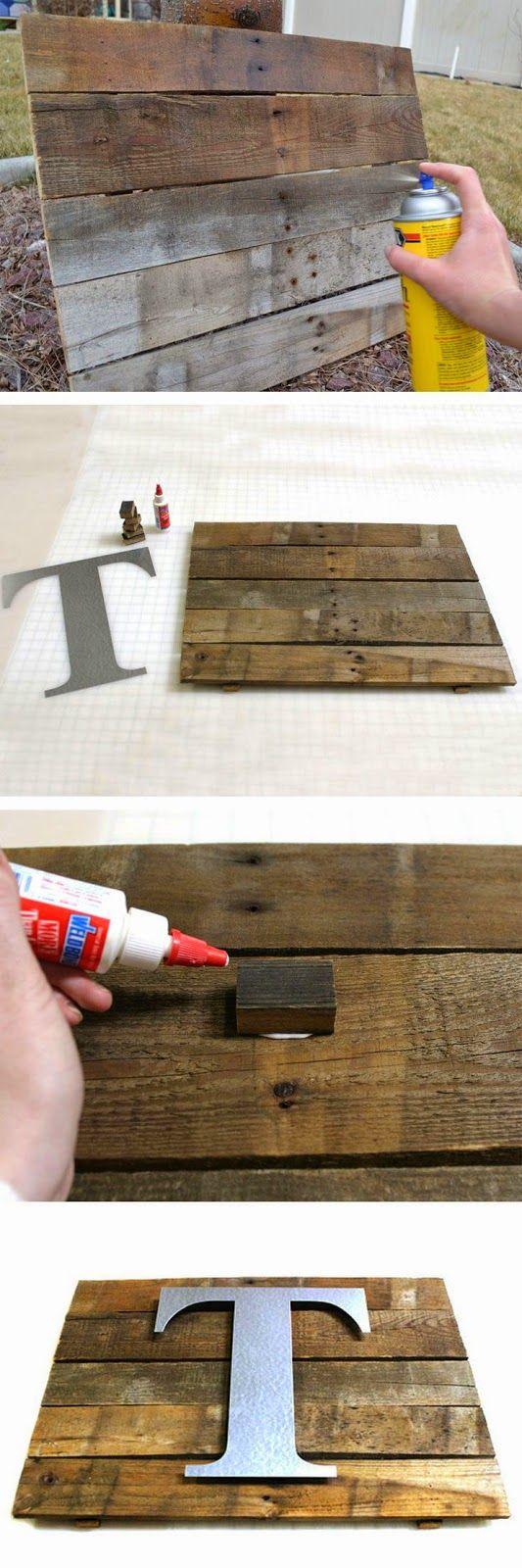 DIY Rustic Coat Rack DIY Rustic Pallet Wall Plaque DIY Rustic Wall Art Ideas  DIY Windows Decorating ...