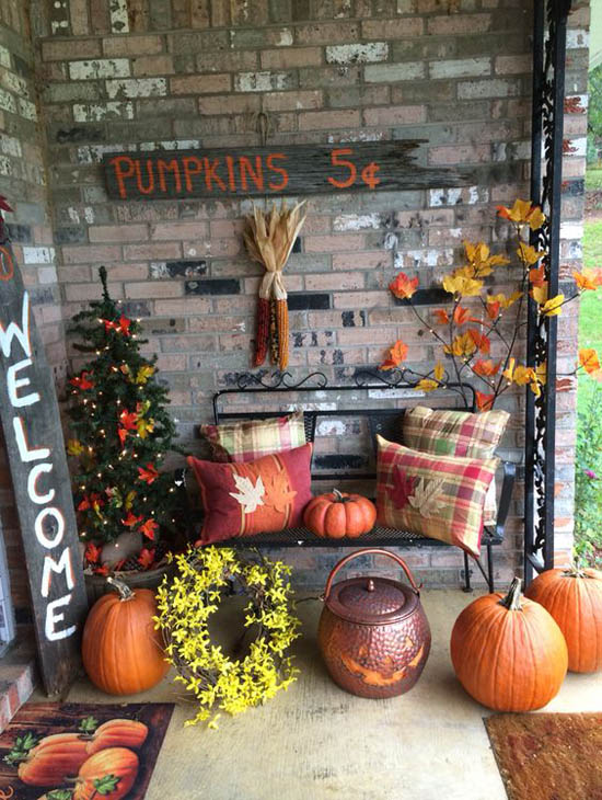 Advertisement - 35 Gorgeous Thanksgiving Outdoor Decoration Ideas
