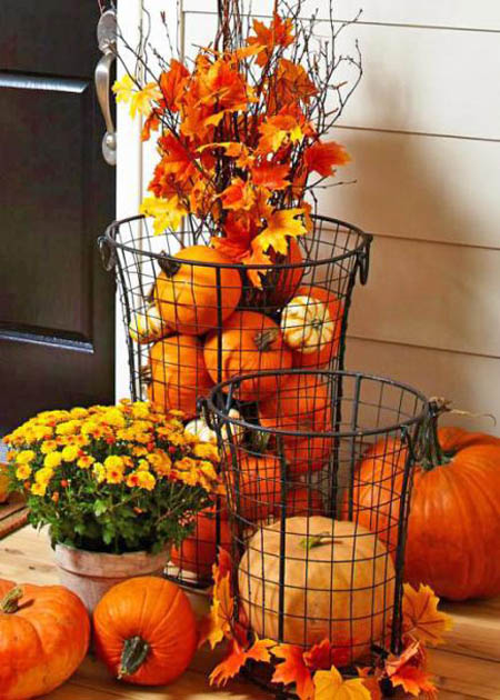 Outdoor Fall Décor Outdoor Thanksgiving Decorating Idea ... - 35 Gorgeous Thanksgiving Outdoor Decoration Ideas