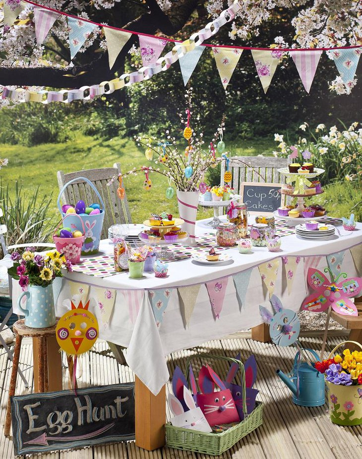 ... Kids Table Easter Decoration Ideas Outdoor ...