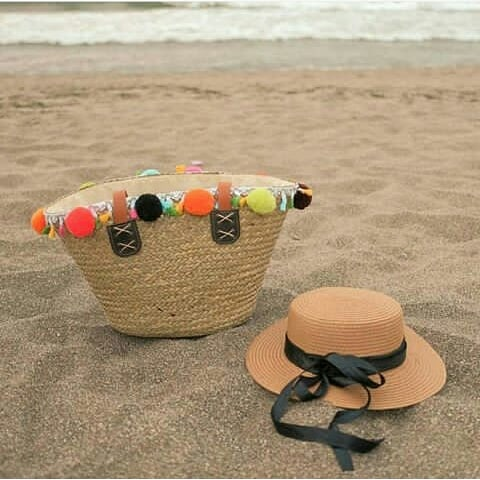 Classic Boater hat with sweet ribbon