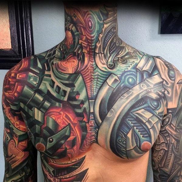 50 Awesome 3d Chest Tattoo Designs Gravetics