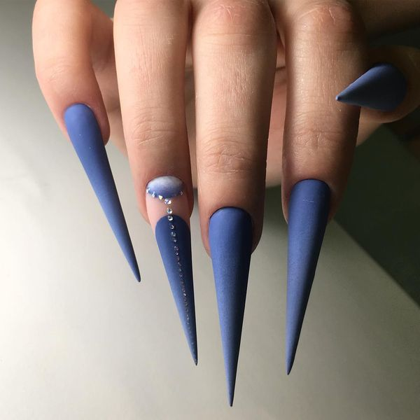 50 Creative Stiletto Nails Designs To Try Gravetics