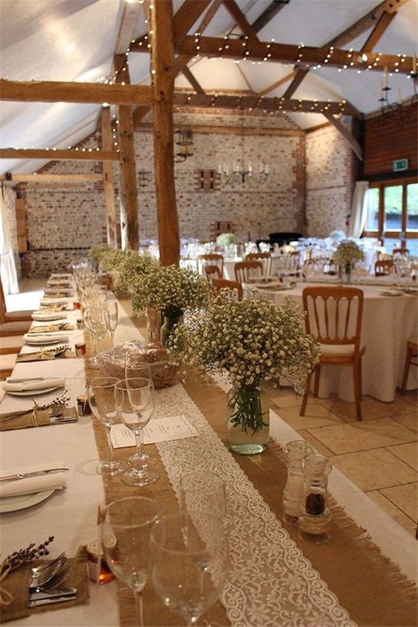 36 Country Rustic Wedding Reception Ideas With Lace And Burlap From Emmalovesweddings