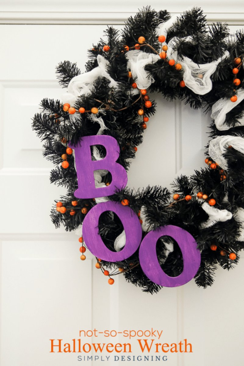 Easy Effortless and Elegant Halloween Wreath Ideas