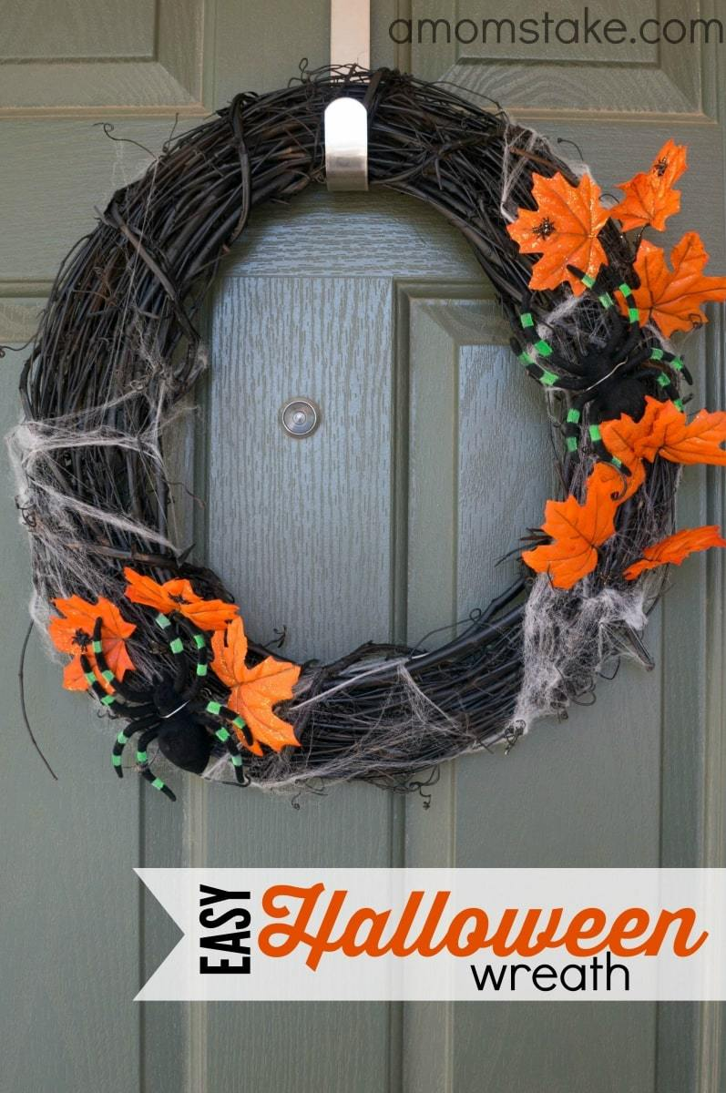 Easy Effortless And Elegant Halloween Wreath Ideas