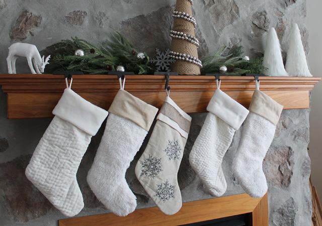 Gray Christmas Stockings.20 Unique Diy Christmas Stocking Ideas Gravetics