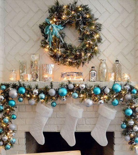 Elegant mantel decorating ideas for christmas