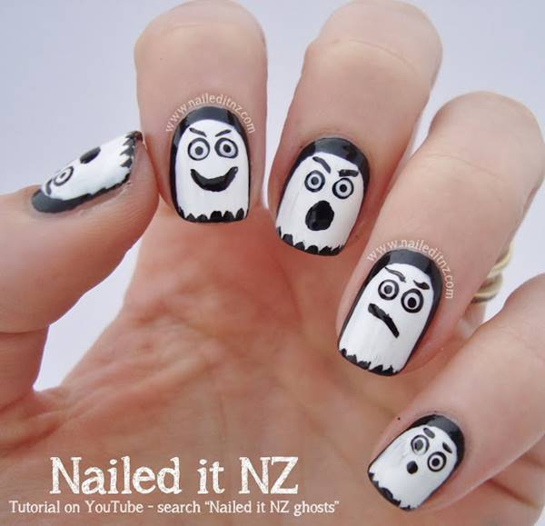 60+ Best DIY Halloween Nail Art Ideas That Screams out Style