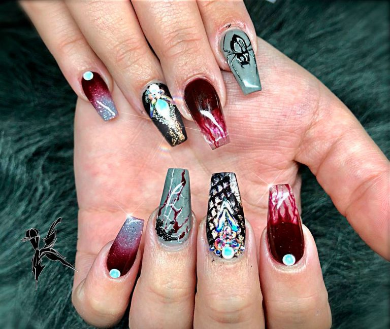 Top 100 Halloween Nail Art designs which are artistic and